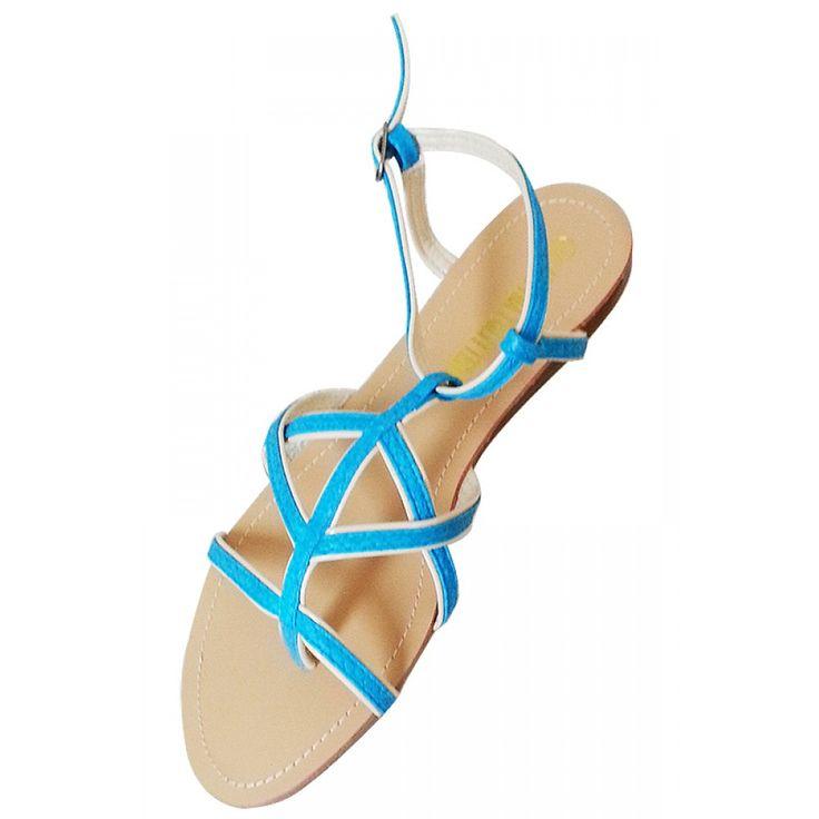 Blue Strap Sandals