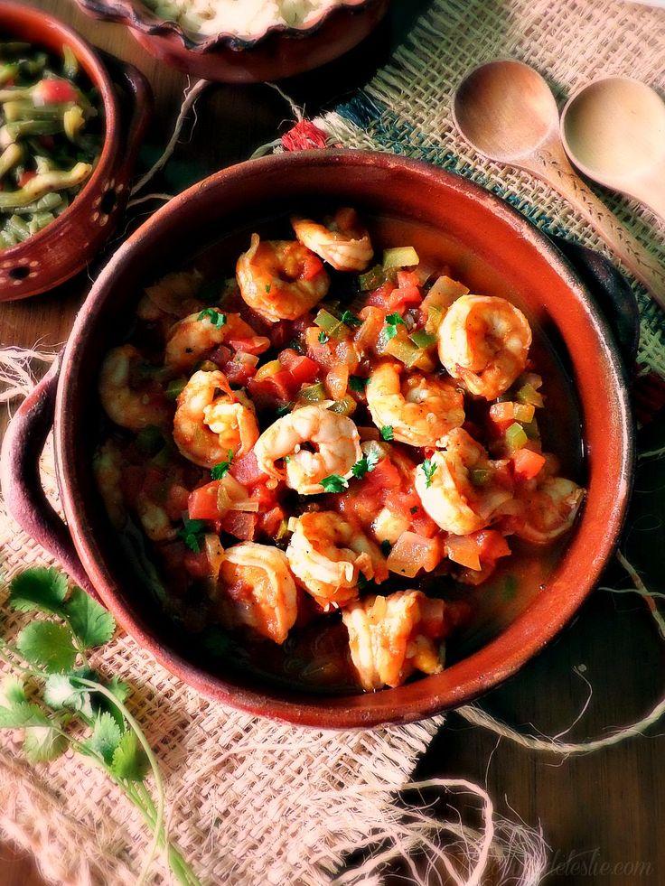 Camarones a la Mexicana (Mexican Style Shrimp in a spicy tomato salsa)