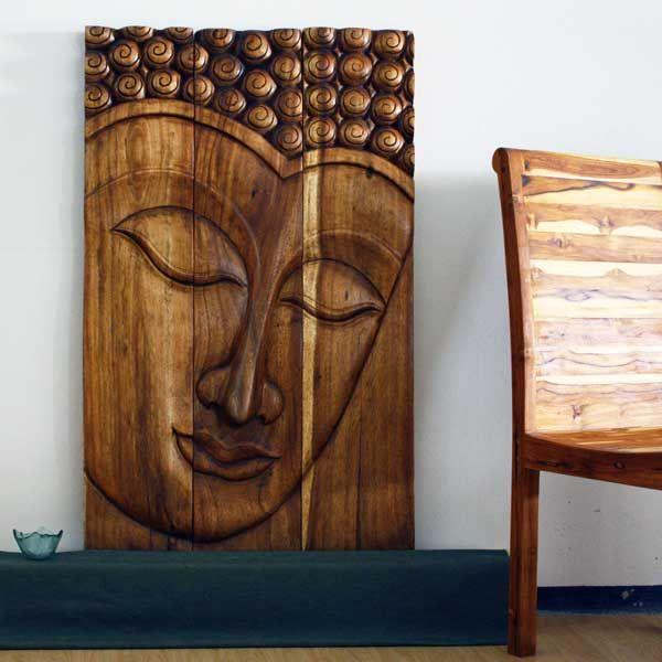 Kan Thai Decor wall art, Buddha wood panels beautiful Thai wall decor