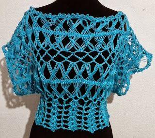 Mis labores en Crochet: Blusa tejida en horquillas, crochet y dos agujas.