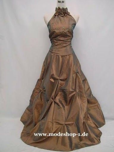 Abendmode Rosen Abendkleid Feuerland in Gold