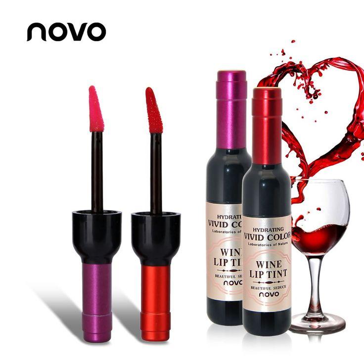 Vino rojo Colores Mancha Del Labio Duradero Mate Tinte brillo de Labios Lápiz Labial Líquido Maquillaje Tatuaje Mate LipGloss Cosméticos de Marca