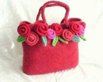 Come fare uncinetto infeltrito fiore borsa di GraceKnittingPattern