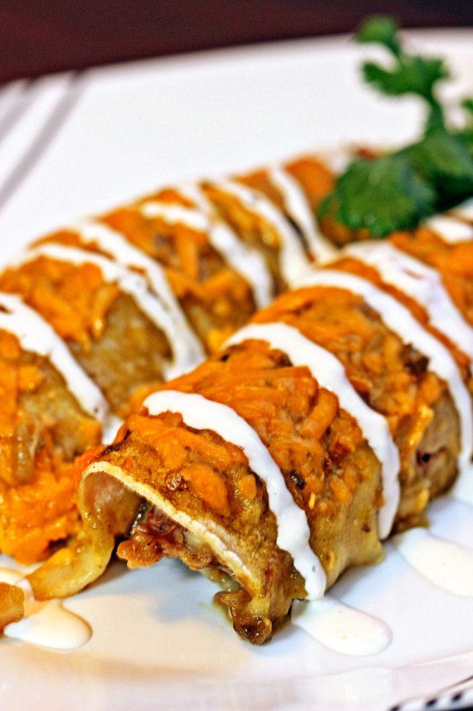 Pork Verde Enchiladas with Hominy7
