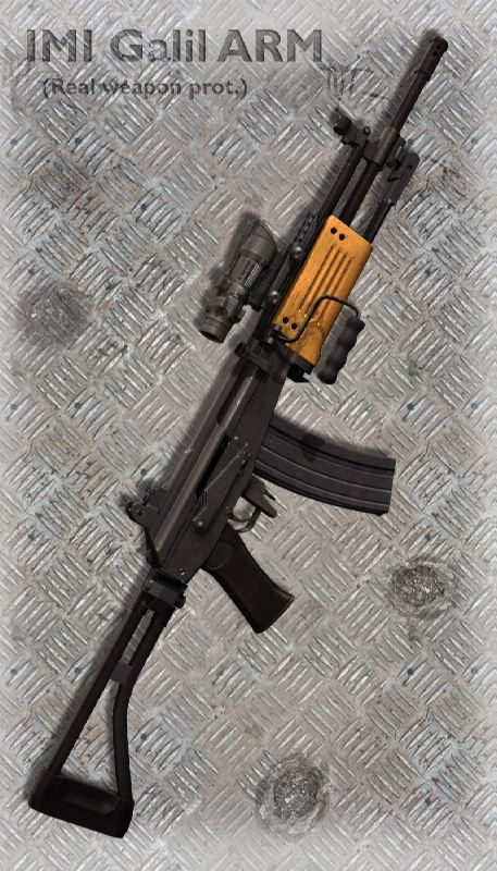 IMI Galil ARM (Israel, 1972) really heavy rifle actually