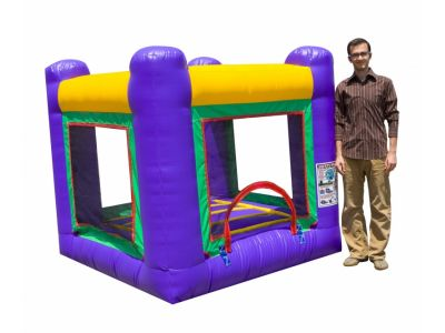 Mini Bouncer Rental, 9x9 Bounce House Rentals 800-873-8989    The Mini Bouncer 9x9 is a uniquely small bounce house that can fit in a multitude of locations. This mini bouncer is good for small kids and can be used indoors during those rainy days. Rent a Mini Bouncer for your next party or event and put some bounce in your day.