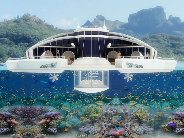 solar-powered houseboatFloating Resorts, Floating Islands, Islands Resorts, Floating Hotels, Solar Floating, Solar Pow Floating, Island Resorts, The Maldives, Design