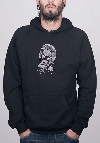 Skull embroidery