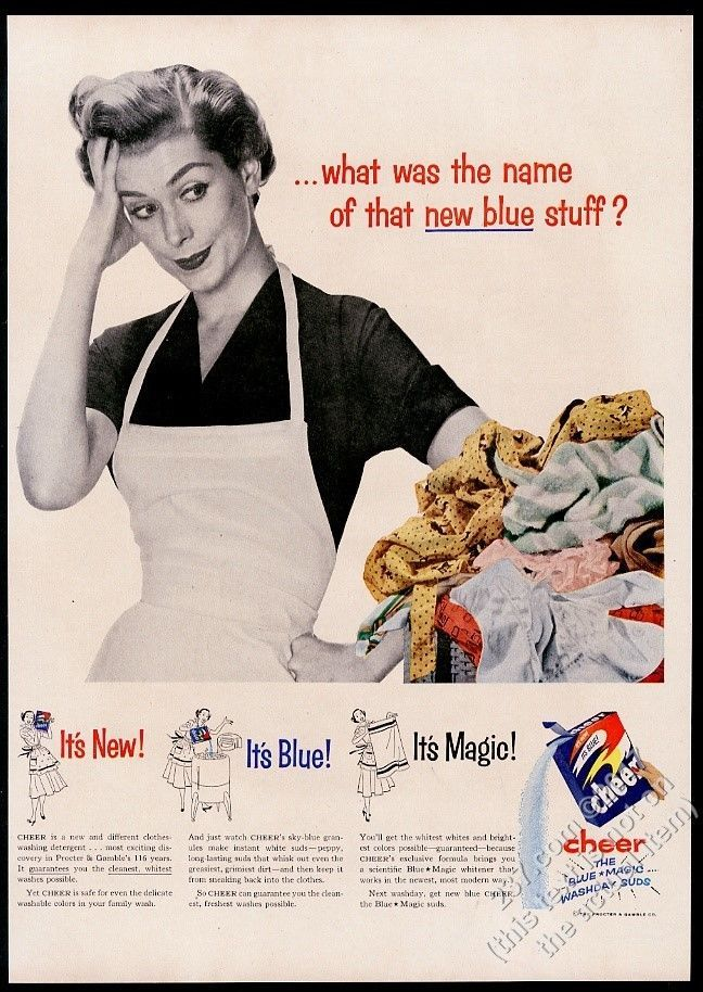 1953 New Blue Cheer detergent housewife photo vintage print ad | Collectibles, Advertising, Household | eBay!