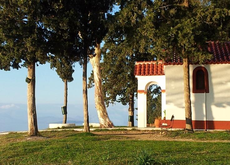 Koukoumitsa Island, Vonitsa, Greece (Agios Nektarios Church)