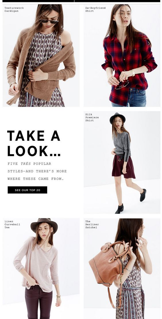 Madewell Take A Look Email Newsletter Design