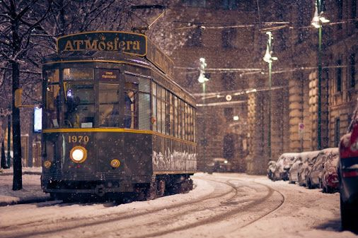 Tram In Winter, Milan Photography By: Alessio Mesiano