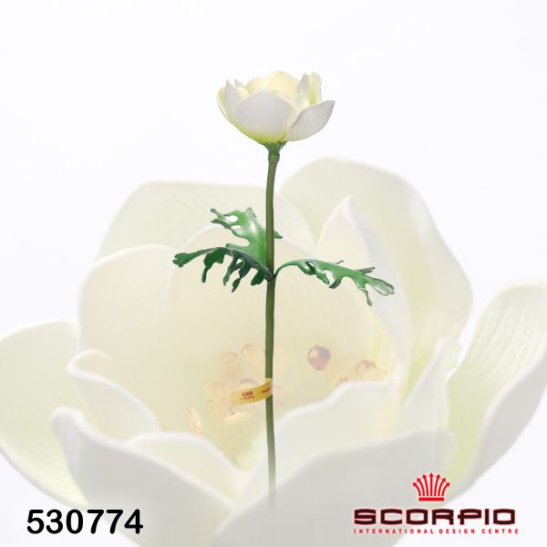 искусственный цветок анемон, светло-желтый - Цветы искусственные - SCORPIO - Магазин подарков, декора, иллюминации