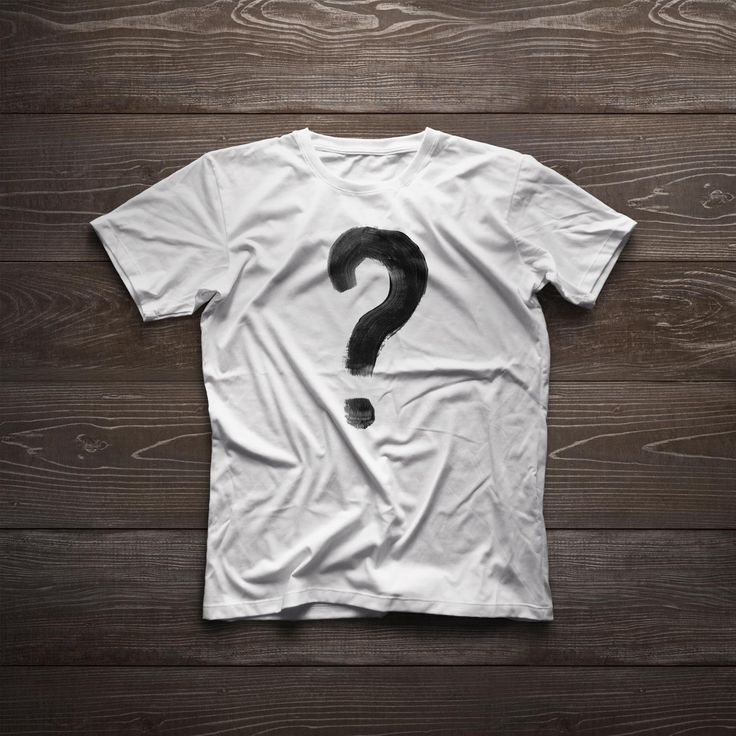 The question mark t-shirt