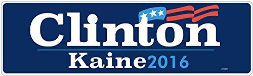 """BUMPER STICKER: Clinton Kaine 2016 Vinyl . 3"""" x 10"""" Vote ... https://www.amazon.com/dp/B01F6NV040/ref=cm_sw_r_pi_dp_x_skHgybMQRE02N"""