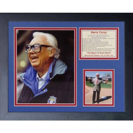 Legends Never Die Harry Caray Framed Photo Collage, 11 inch x 14 inch