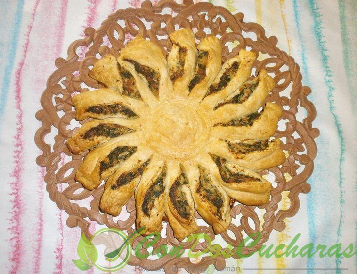 Receta de estrella de jamon y espinacas | ConDosCucharas.com