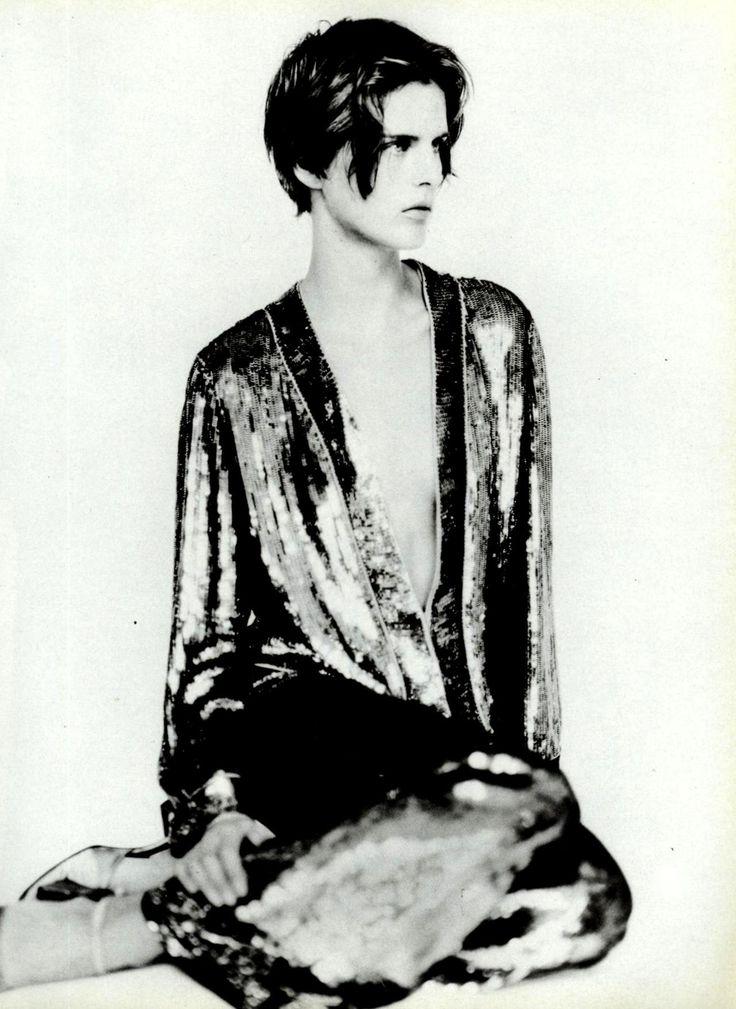 Stella Tennant wearing Giorgio Armani F/W 1997shot by Paolo Roversi for Vogue Italia 1997