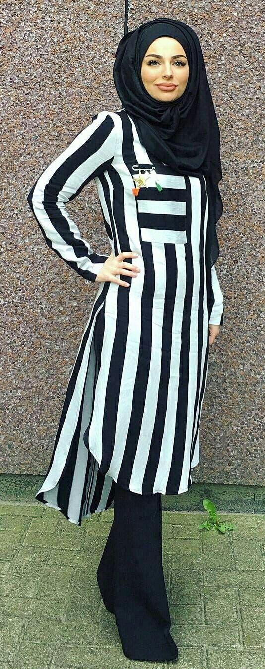 Stripes- Hijab fashion #hijabstyle