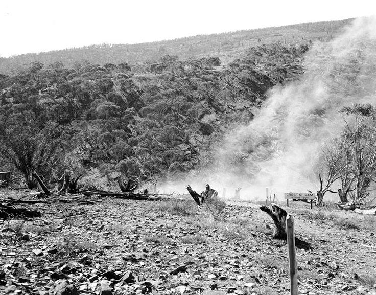 First blast of the Snowy Mountains Scheme Date: 1949