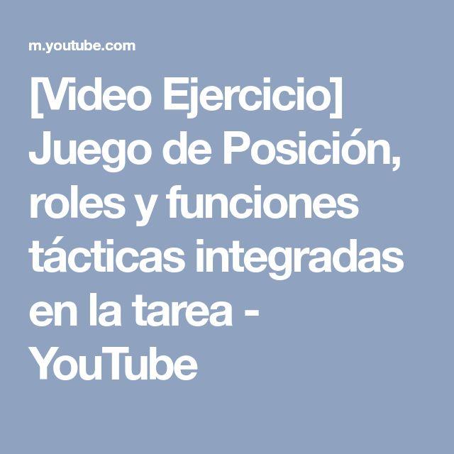 [Video Ejercicio] Juego de Posición, roles y funciones tácticas integradas en la tarea - YouTube