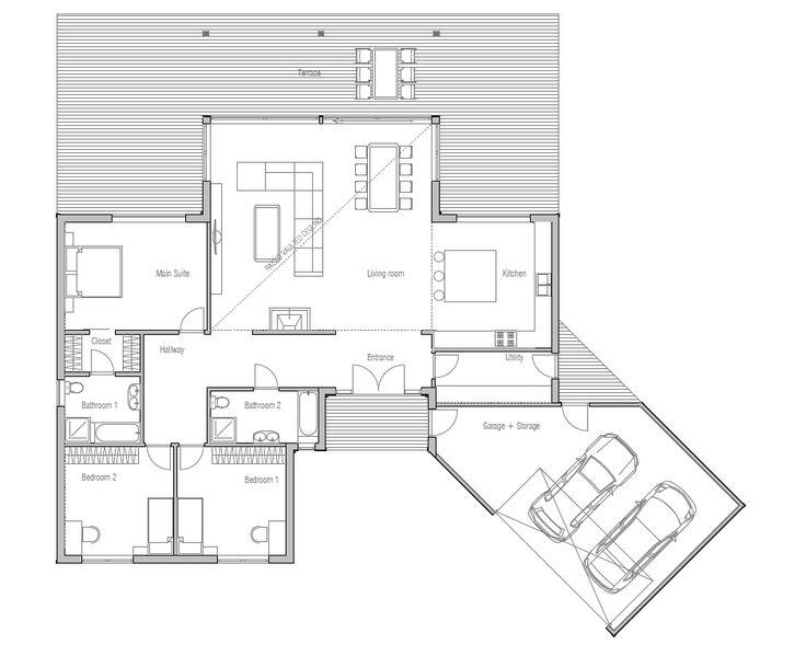 Modern House Plan Abundance Of Natural Light Three