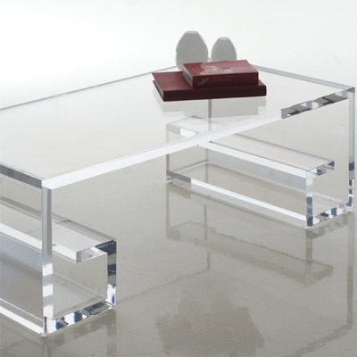 By H studio-greco acrylic coffee table...Haziza.com -Contemporary Art, Furniture and Stunning Acrylic Designs