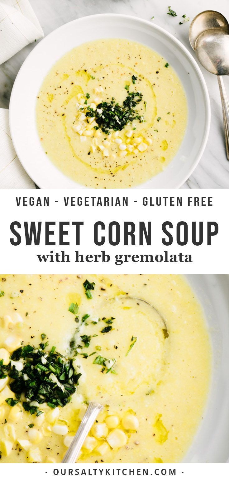 Apr 5, 2020 – Sweet corn soup is one of my favorite summer recipes! Made with a simple list of ingredients, the corn fla…
