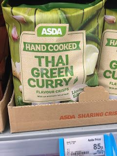 Asda Hand Cooked Thai Green Curry Crisps (uk)