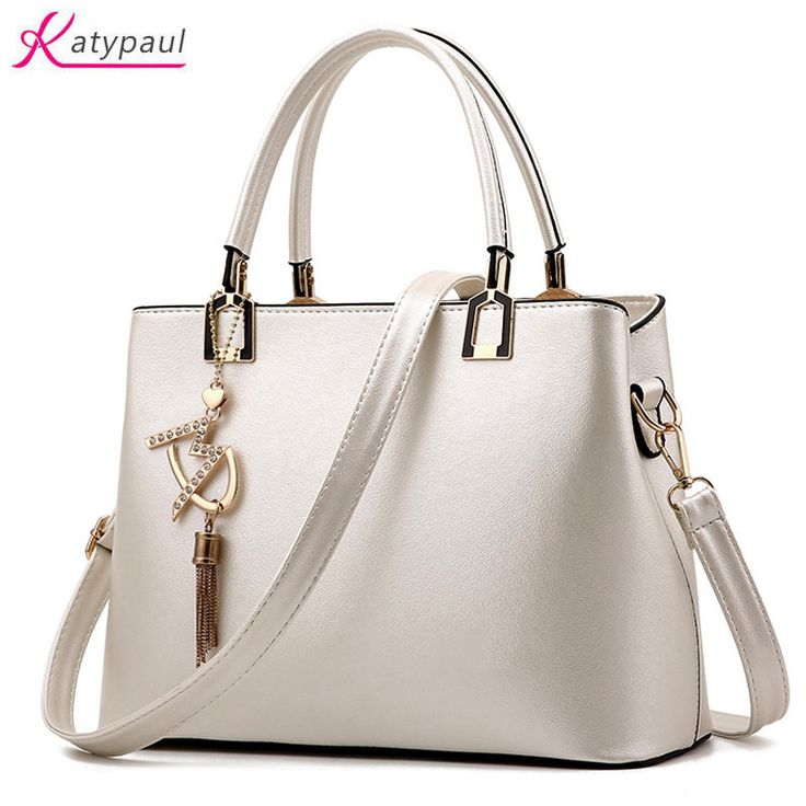 Bolso Mujer 2017 Fashion Hobos Women White Bag Ladies Brand Leather Handbags Pink Casual Totes Bag Big Shoulder Bags For Woman #Affiliate