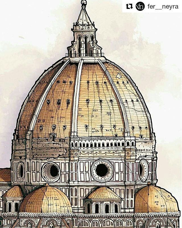 Illustration by @fer__neyra ・・・ Cúpula Santa María del Fiore, Florencia Italia F. Brunelleschi  #arquitetapage  #arch_more  #arquisemteta  #arqsketch  #architecture  #next_top_architects  #archilovers  #sketchers  #skecthbook  #urbansketch  #modernarchitecture  #design #axonometric  #illustration  #graphics  #drawing  #perspective  #architecture_hunter #sketch #photoshop  #digitalpainting  #behance #art_help  #house #amazingarchitecture  #illustrator