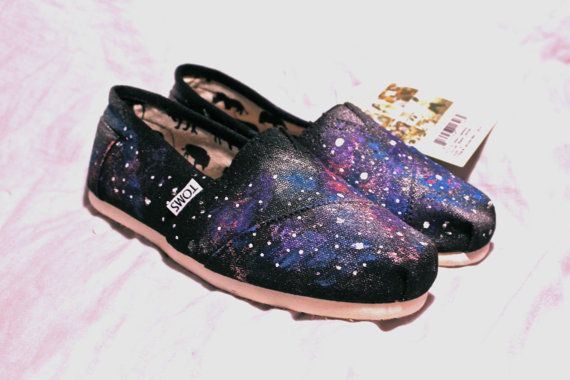 Galaxy Toms or Vans Keds etc by InfiniteInspiration on Etsy, $65.00