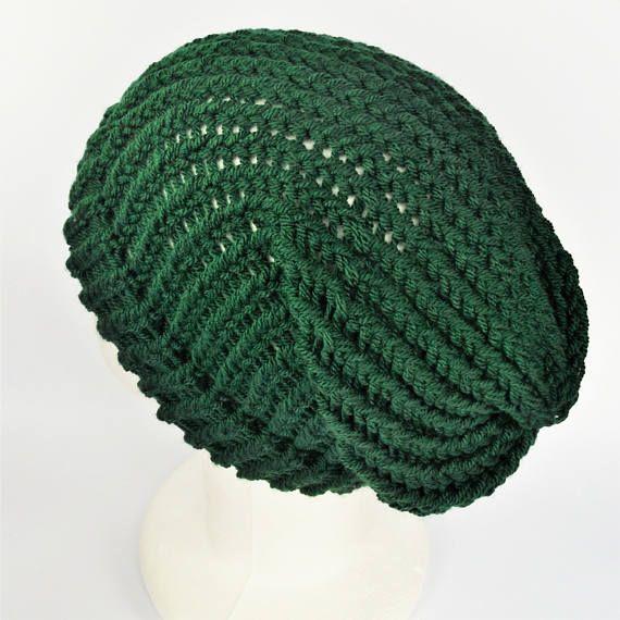 Green summer beanie slouchy beanie boho slouch hat green