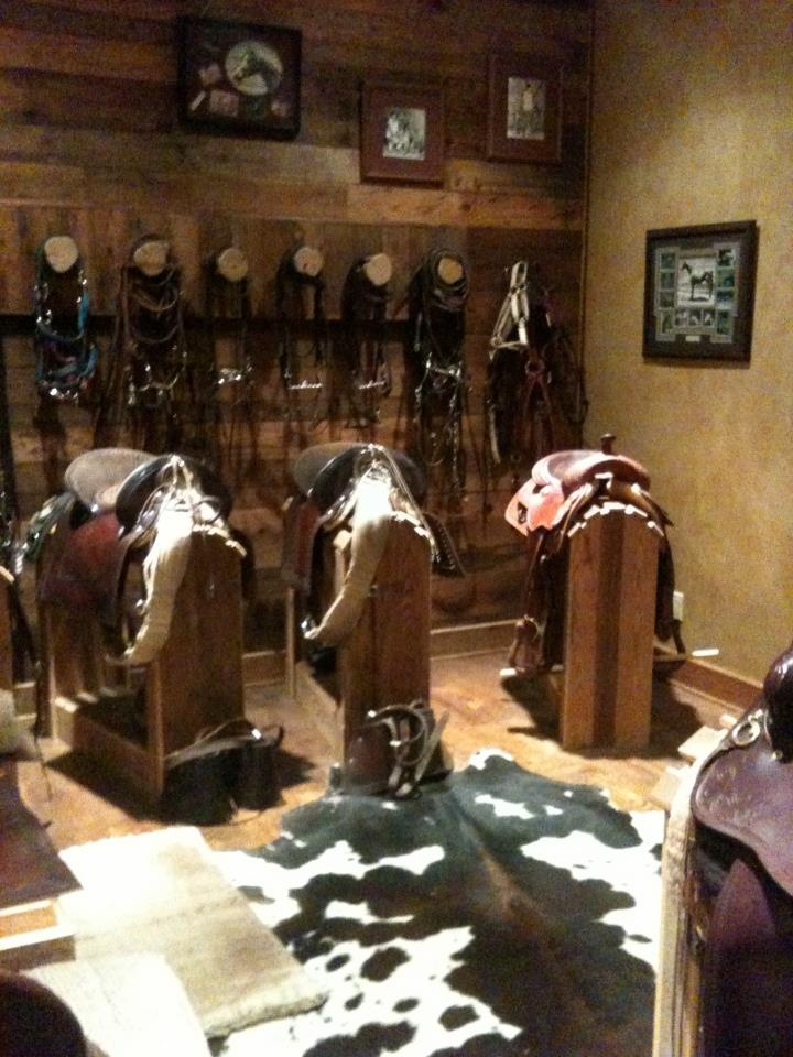 tack room......maybe when we build a shop......for now....the trailer will have to suffice.
