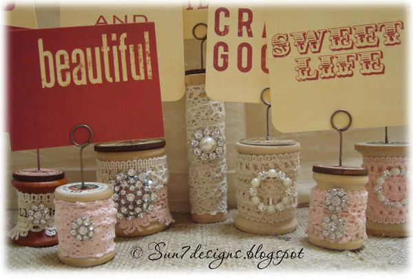 Crafts Made with Thread Spools | have had this jar of wooden thread spools for several years so when ...