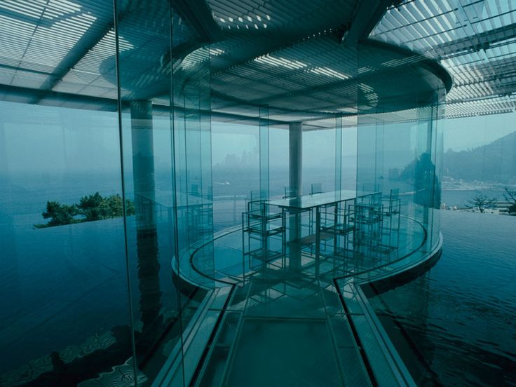 Water/Glass House designed by Kengo Kuma and Associates.