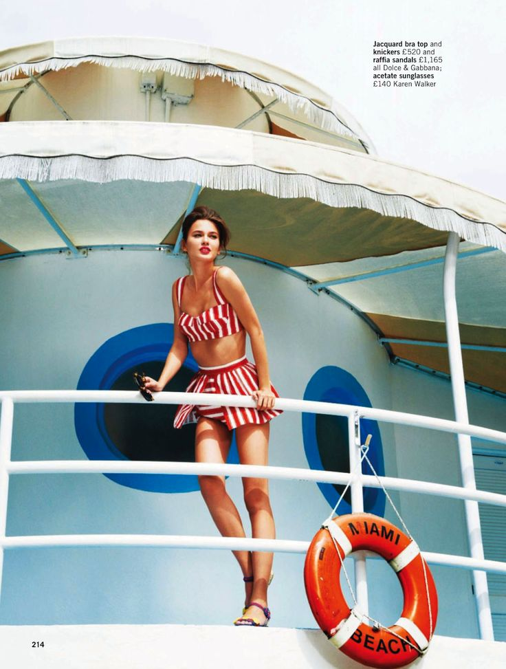 sun. sea, glamour: rudi ovchinnikova and wes by pamela hanson for uk glamour may 2013