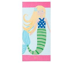 Embroidered & Personalized Beach Towels | Pottery Barn Kids