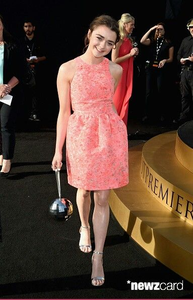 Maisie Williams at the GoT season 5 premiere at the War Memorial Opera House…