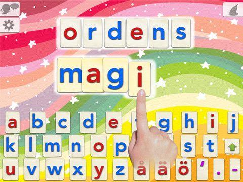 Ordens Magi är en unik app som låter barn bygga vilka ord som helst genom att använda talande flyttbara bokstäver och höra ljudet av bokstäverna och orden som de bygger. Appen använder sig av avancerad text-till-tal teknik och kan uttala och stavningskontrollera ett obegränsat antal ord.