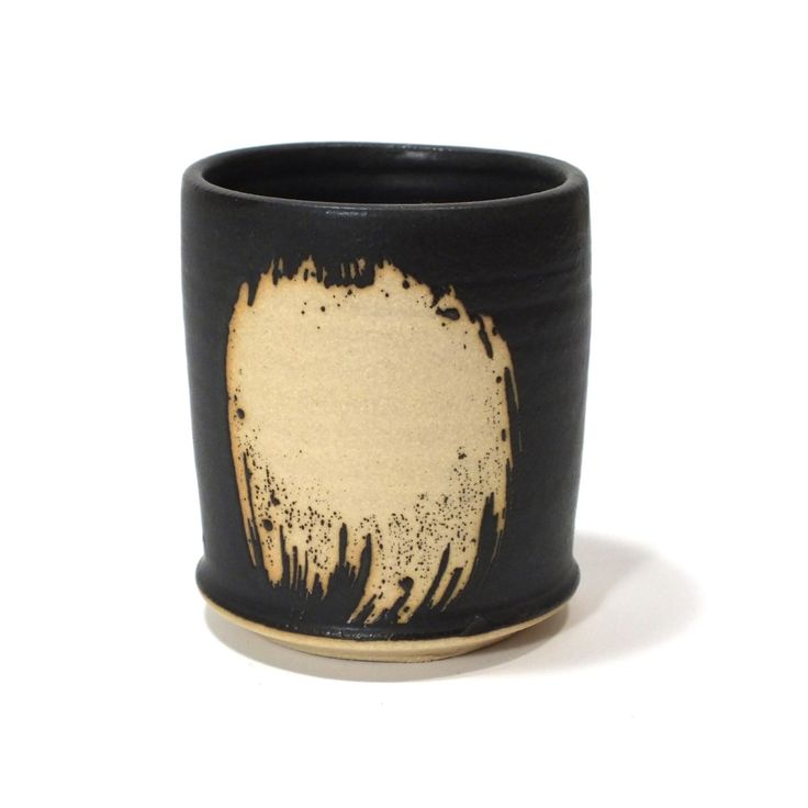 Perfect Fit Dead Sexy Black Whiskey Tumbler - matte black wheel thrown pottery cup by GravesCo on Etsy https://www.etsy.com/listing/265951055/perfect-fit-dead-sexy-black-whiskey
