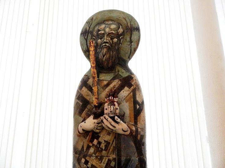 Червяков А.Д. Декоративная композиция «Никола» h 2м 14 см шамот, гор. эмали