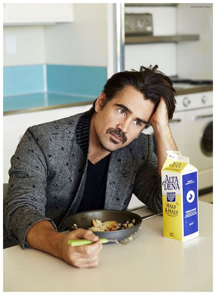 Colin Farrell Dons Dolce & Gabbana for Vanity Fair Italia Cover Shoot