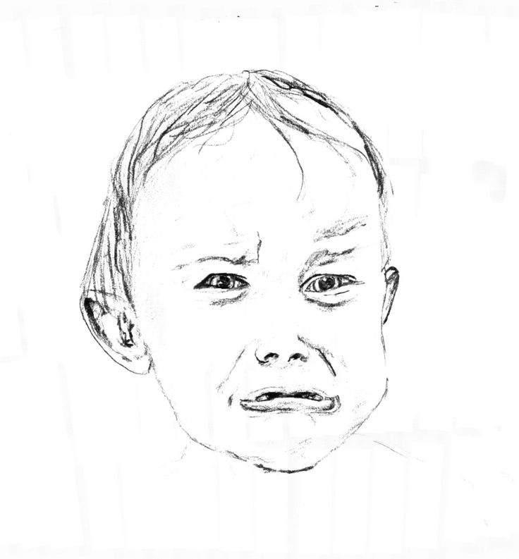 A little toddler bound to cry. By Rani