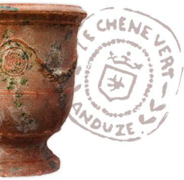 Poterie Le Chêne Vert, fabriquant artisanal de vase d' Anduze, poterie d' Anduze