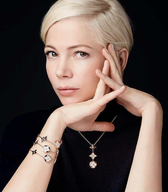 "Michelle Williams for the ""Louis Vuitton"" Jewellery Blossom Collection - (2017)"