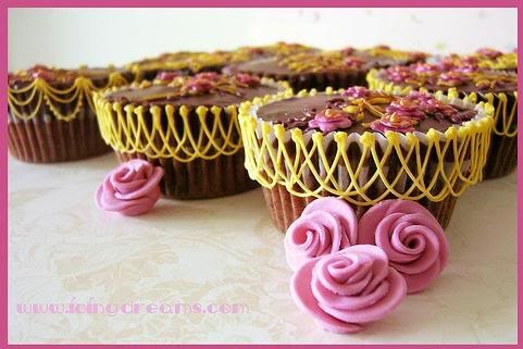 Fab idea with the scallop icing: Pink Blossom, Scallop Icing, Cupcake Fun, Food, Photo Sharing, Fab Idea