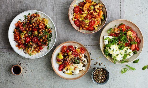 four tomato salads
