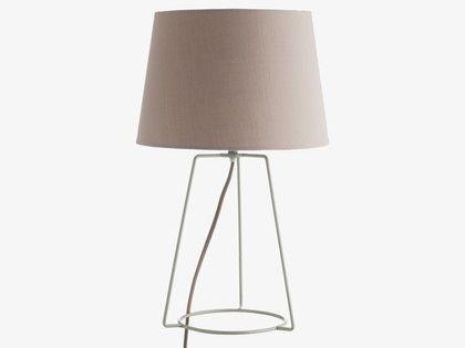 LULA GREYS Metal Grey metal table lamp - HabitatUK