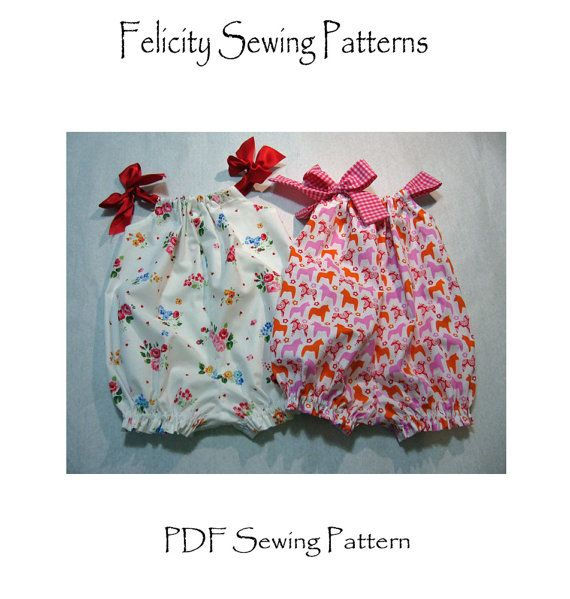 Pretty Baby Romper PDF Sewing Pattern for  por FelicityPatterns, $7.95